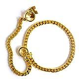 Kf Pet Collar P Kette Hundekette Heimtierbedarf Starke Kette Schlange Metallhalsband Hundehalsbänder (Farbe : Gold, größe : L)