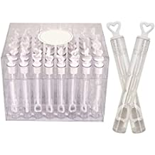 24 Wedding Wand Heart Tube Bubble Favours Table Decoration Party Accessories