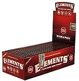 Elements Red Kurze Blättchen aus Hanf Doppelfenster 10 Heftchen