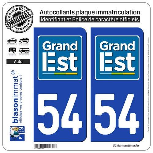4 Autocollants 2 paires Stickers style Auto Plaque Black Edition noir F 54
