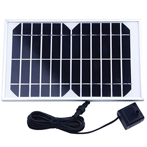 REFURBISHHOUSE Bomba Agua Panel Energa Solar para Fuente Estanque 12V 500L/HBomba solar de la fuente El panel solar: 12V 420MAControlador: ATTINY13 NCBomba: motor sin cepillo ni ejeVoltaje: 12V, 5WCorriente: 300mA; cabeza: 200cmFlujo: 500L / HTamano ...