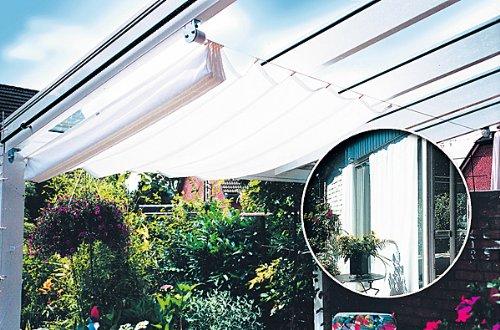 Seilspann Markise Mit Sonnensegel 330 X 200 Cm Mwd