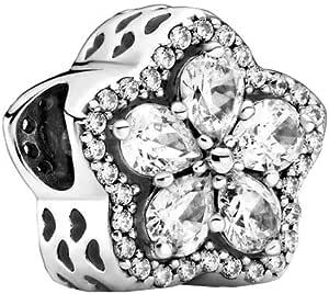 Pandora Ciondolo a forma di fiocco di neve in argento Sterling, 10,6 x 12,4 x 12,4 mm (T/H/B)