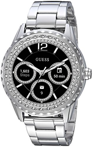 Guess Jemma Ladies Touch AMOLED Silber Smartwatch - Smartwatches (AMOLED, Touchscreen, 24 h, Silber)