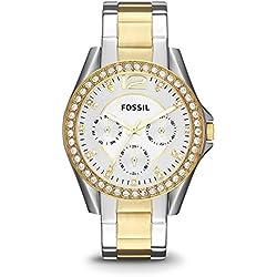 Fossil ES3204 - Reloj (Reloj de pulsera, Femenino, Acero inoxidable, Oro, Acero inoxidable, Acero inoxidable, Oro, Acero inoxidable)