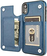 Compatible with iPhone 12 and iPhone12 Pro Wallet Case with Card Holder, Vteepck PU Leather Kickstand Card Slo