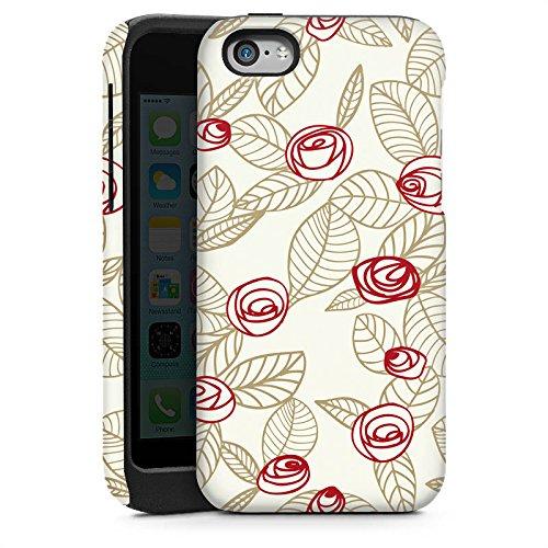 Apple iPhone 6 Housse Étui Silicone Coque Protection Roses Roses Roses Cas Tough brillant