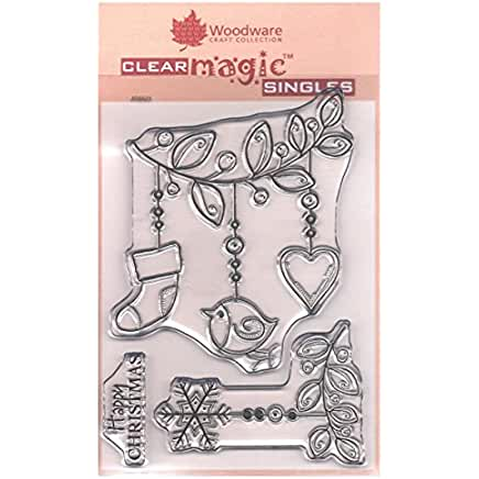 Woodware Little Festive Branch stamp set