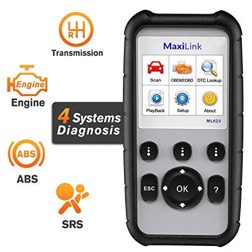 Autel MaxiLink ML629 OBD2 Diagnosegerät Auto Code Scanner CAN EOBD  Fehlercode Lesegerät für ABS/SRS/Motor/Getriebe, mit DTC-Lookup und  Ready-Test,