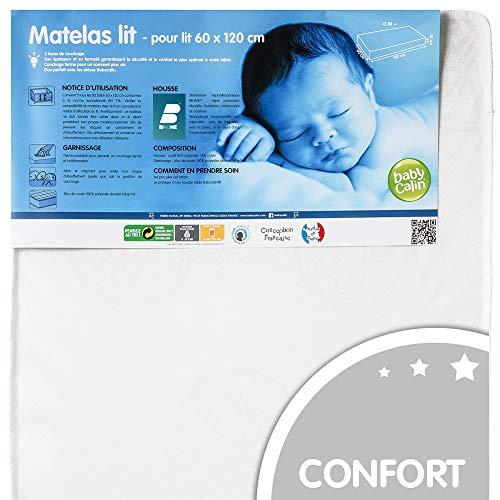BABYCALIN - Matelas bébé hypoallergénique - pour lit 60 x 120