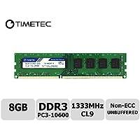 Timetec Hynix IC 8GB DDR3 1333MHz PC3-10600 Unbuffered Non-ECC 1.5V CL9 2Rx8 Dual Rank 240 Pin UDIMM Bureau Mémoire RAM Module Upgrade (8GB)