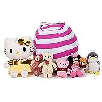 Geekbuzz - Puf Multifuncional para Guardar Ropa y Mantas de Juguetes, Organizador de Peluche, para Dormitorio de niños, Rosa, Large