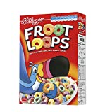 #9: Kellogg's Froot Loops Fruit Flavoured Corn,Oats & Wheat Cereal, 285g