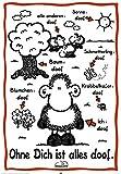 empireposter - Sheepworld - Ohne Dich ist Alles Doof - Größe (cm), ca. 61x91,5 - Poster, NEU -