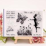 Cold Toy Fairy Butterfly Transparent Silikon Klar Stempel Tagebuch Scrapbooking DIY