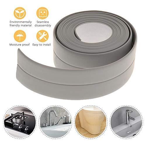 MOGOI Ruban adhésif en polyéthylène pour Cuisine/Salle de Bain/Baignoire/Douche/Toilette/Mur étanche, Anti-moisissure pour Cuisine, Baignoire, Gris, Taille M