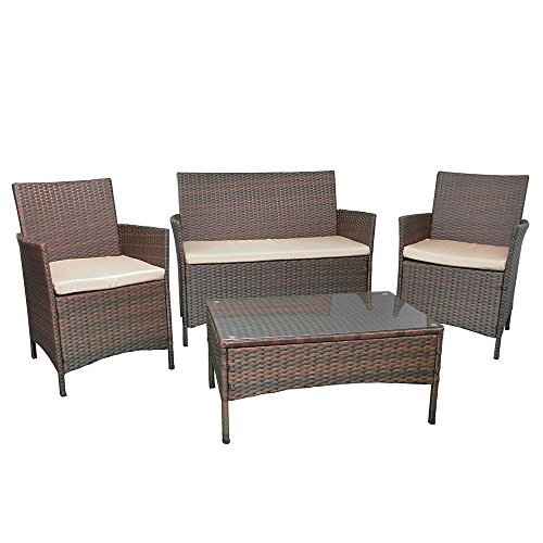 Rattan 4 seater furniture garden patio conservatory for Traditional garden furniture