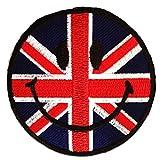 Uk Angleterre Gt. Bretagne Smiley Patch ''7,5 x 7,5 cm'' - Écusson brodé...