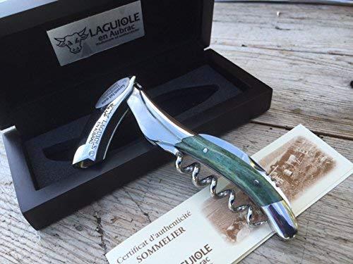 Laguiole en Aubrac Sommelier Kellnermesser SOM99O4I Os Cham Vert grüner Knochen -