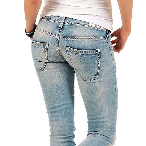 Khujo Damen T-Shirt Oversize Top Imke Neon Print Loose-Fit Light Grey Melange