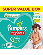 Pampers New Diaper Pants Super Value Box, Extra Large (Pack of 144)
