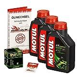 Ölwechselset Motul 5000 10W-40 Öl + HiFlo Ölfilter für Honda CBF 1000 /F, Bj. 06-12 (Typ SC58 SC64); Motoröl + Filter + Dichtring