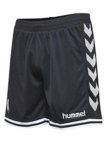 Hummel SC Freiburg Fußball Trainingshose 2016 2017 Polyester schwarz weiß Herren