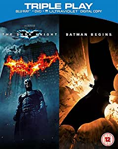 Batman Begins / The Dark Knight - Triple Play (Blu-ray + DVD + UV Copy) [2005] [Region Free]