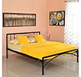 #5: @home by Nilkamal Ursa Queen Size Bed without Storage (Matte Finish, Black)