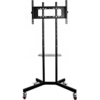 Oulii Portable Tv Stand Mobile Tv Stand With Wheels And Amazonco