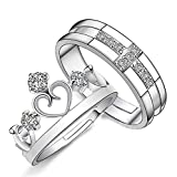 #4: Sorella'z Unisex His & Her Crown Prince And Princess Couple Rings