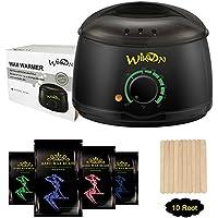 Wikvon Wachswärmer, Wax enthaarung/Wachserhitzer mit 4X100g Wachsperlen für haarentfernung, Komplett Wachs Haarentfernung set - schmerzfrei - einfach und schnell