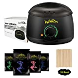 Wax Heater, Electric Wax Warmer Hair Removal Kit with 14 oz Hard Wax Beans and Waxing Spatulas