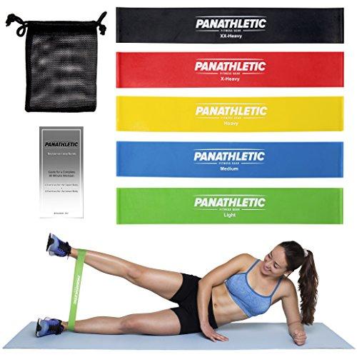 Fitnessbnder-Widerstandsbnder-5er-Set-mit-e-Anleitung-und-Tragebeutel--5x-Fitnessband-Widerstandsband-Gymnastikband-Trainingsband-bungsband-Fitness-Band-Gymnastikbnder-Trainingsbnder-Loop-Bnder-Mini-B