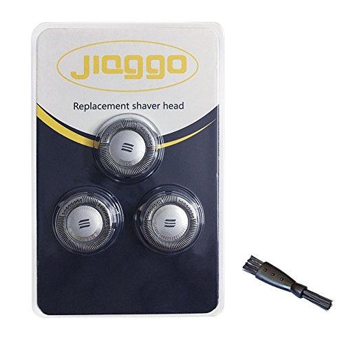 Jiaggo hq8 testine di rasatura ricambio per philips pt860 at770 at890 pt737 pt711 rasoio, 3 testine di ricambio con 1 spazzola per confezione