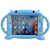 LEADSTAR Kinder Schutzhülle Kinderfreundliche Hülle für iPad 9,7 Zoll 2017 / iPad Air / iPad Air 2 / iPad Pro 9,7 / iPad 9.7 2017/ 2018, Silikon Stoßfest Leichtgewicht mit 2 Handgriffen (Blau)