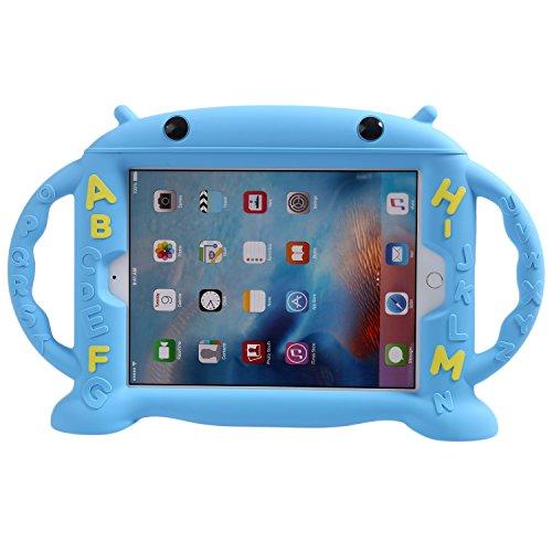 LEADSTAR Custodia per Nuovo iPad 9.7 Pollici 2017 / iPad Air / iPad Air 2 / iPad Pro 9.7 - Silicone Bambini Antiurto Custodia Protettiva Cartone Case con 2 Supporto Maniglia (Blu)