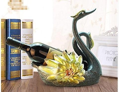 ornements en rack de vin, casier à vin créatif européen, porte-bouteilles, décoration de résine casier à vin à domicile, stand d'exposition