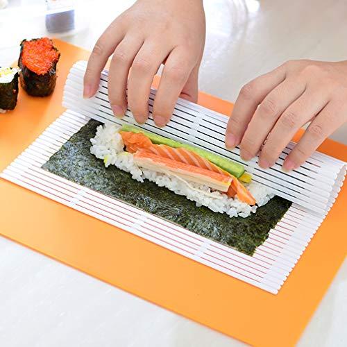 creatspaceE - Utensili da Cucina per Sushi, alghe, Nori Giapponesi, per Sushi e Sushi, Colore: Bianco