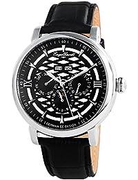 Engelhardt Herren-Armbanduhr XL Analog Automatik Leder 388521029004