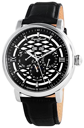 Engelhardt Men's Watch XL Analogue Automatic Leather 388521029004
