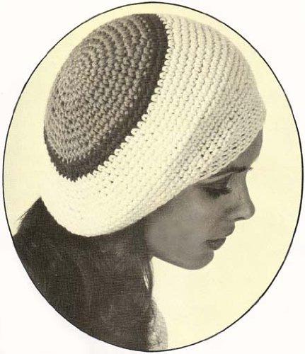 Slouchy Crochet Tam Beret Cap Hat Vintage Pattern (English Edition) Rasta Tam