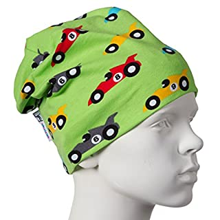 JNY Colourful Kids Racecar Boys' Transition Beanie in Green - Green - One Size