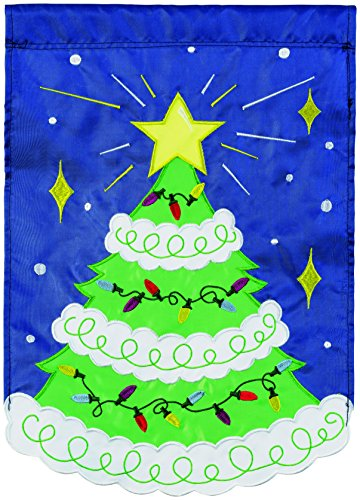 Carson Home Accents Weihnachtsbaum Trends Single Aufnäher groß Flagge