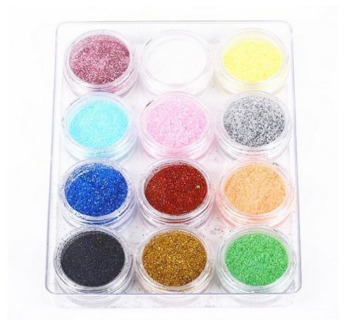 My Sky Nail Art Powder 12Color Dust Glitter Sparkle Nail Tip Decoration by WindMax