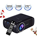 Best Proiettori Hd Multimedia Home Theater Lcd Led - LED HD Portable Projector, SINUK 2200 Lumens 1080 Review