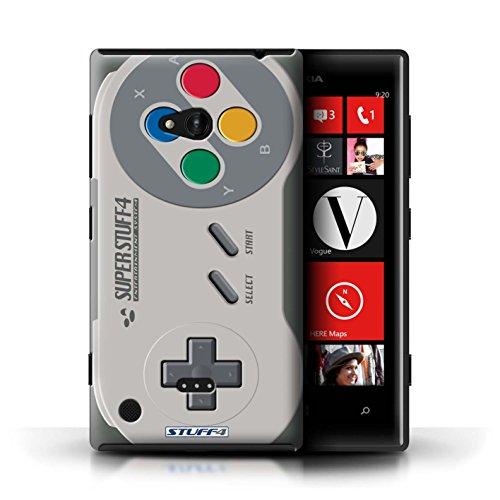 Kobalt® Imprimé Etui / Coque pour Nokia Lumia 720 / Noir Xbox 360 conception / Série Console (jeux vidéo) Super Nintendo