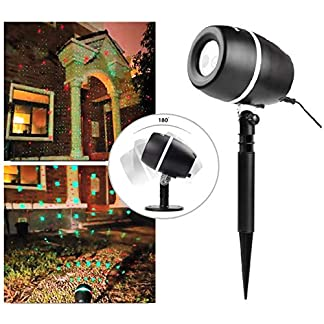 SALCAR Proyector Luces de la Navidad, Efecto de Luces LED Proyector, para Interiores y Exteriores IP65