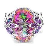 Loveso Modeschmuck Farben Ring Damenring Schmuck Geschenk Ring Geschenke Schmuck Kristall Strass