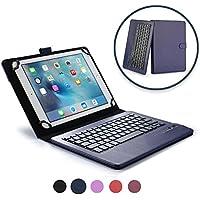 Archos 101 Custodia con Tastiera, COOPER INFINITE EXECUTIVE Custodia a libro Per Il Trasporto di Tablet con Tastiera Bluetooth QWERTY Wireless Removibile con supporto per Archos 101 (Blu)